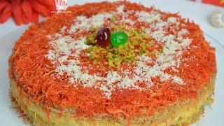 চুলায় তৈরি কুনাফা।। লাচ্ছা সেমাই দিয়ে কুনাফা ।। Arab Dessert Kunafa On Stove