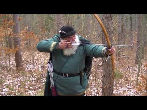 ICE AGE ARCHERY- AIMING THE PRIMITIVE OSAGE HOLMEGAARD LONGBOW
