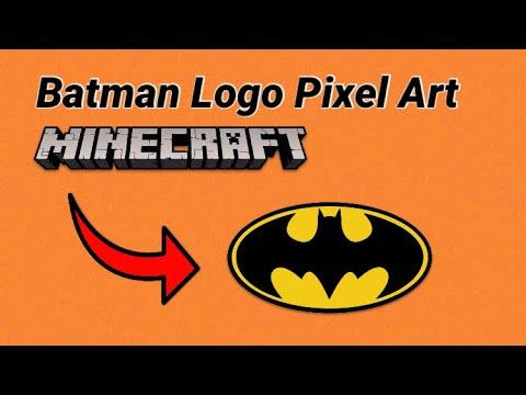 Batman Logo Minecraft Pixel Art Youtube