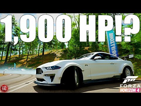 Forza Horizon 4: Almost 1,900 HP Mustang!? Mustang RTR Spec 5 Crazy Engine Swap, Drift Build thumbnail