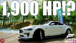 Forza Horizon 4: Almost 1,900 HP Mustang!? Mustang RTR Spec 5 Crazy Engine Swap, Drift Build