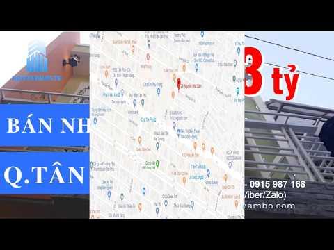Bán nhà quận Tân Phú giá dưới 3 tỷ - Tổng hợp tháng 3/2019