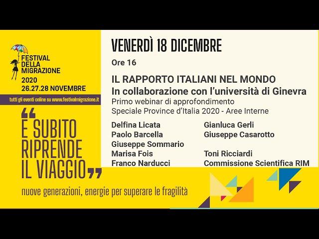 Il Rapporto Italiani nel Mondo in collaborazione con l'Università di Ginevra