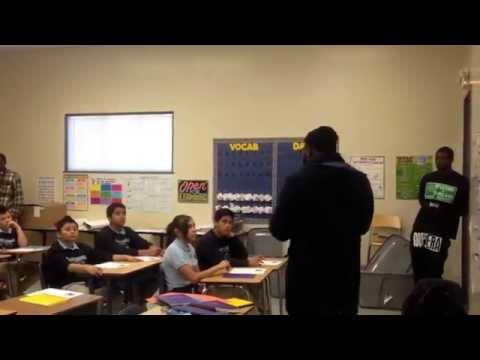 Mistah F.A.B class visit at Oakland Charter Academy