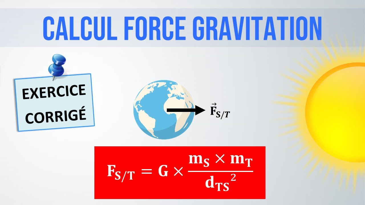 Exercice Corrige Calcul D Une Force Gravitationnelle Physique Chimie College Lycee Youtube