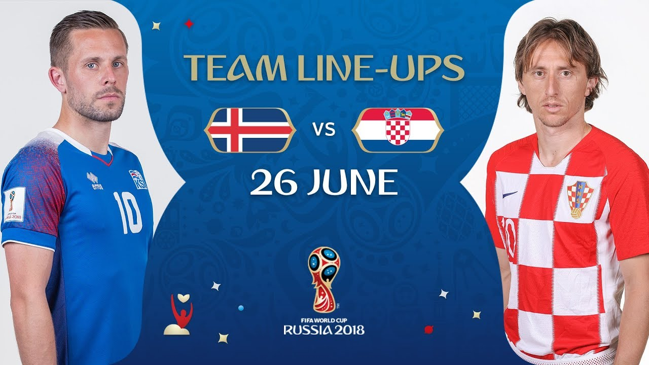 956bbf350ff LINEUPS – ICELAND V CROATIA - MATCH 40   2018 FIFA World Cup™ - YouTube