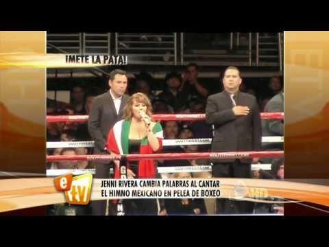 Jenni cantó mal el Himno Nacional Mexicano