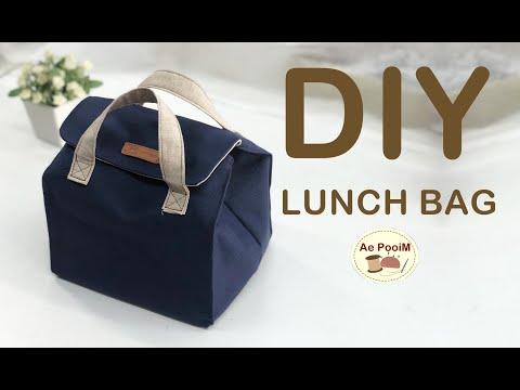 DIY LUNCH BAG, PICNIC BAG // วิธีทำกระเป๋าใส่กล่องอาหารแบบง่ายๆ