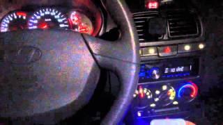 Регулировка яркости приборов Hyundai Accent