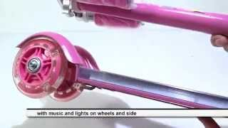 Skateboards Skate Scooter For Girls Princesses Musical Lights Toy 3 Wheel Arm Assembly