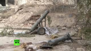 Первые кадры из освобожденных районов Старого города Алеппо