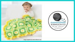 Crochet Daisy Blanket Tutorial