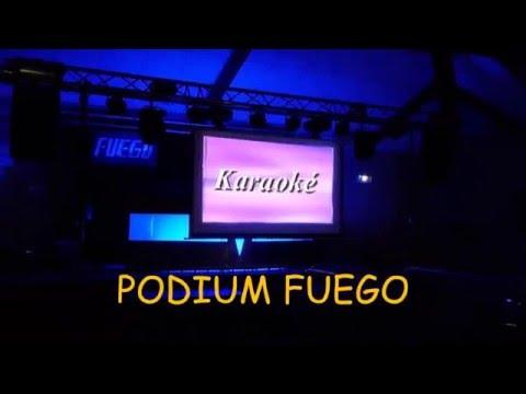 Podium Fuego Karaoké