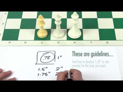 Fit Chess Pieces and Board Size
