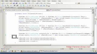 Build an audio converter - using c# and alvas.audio