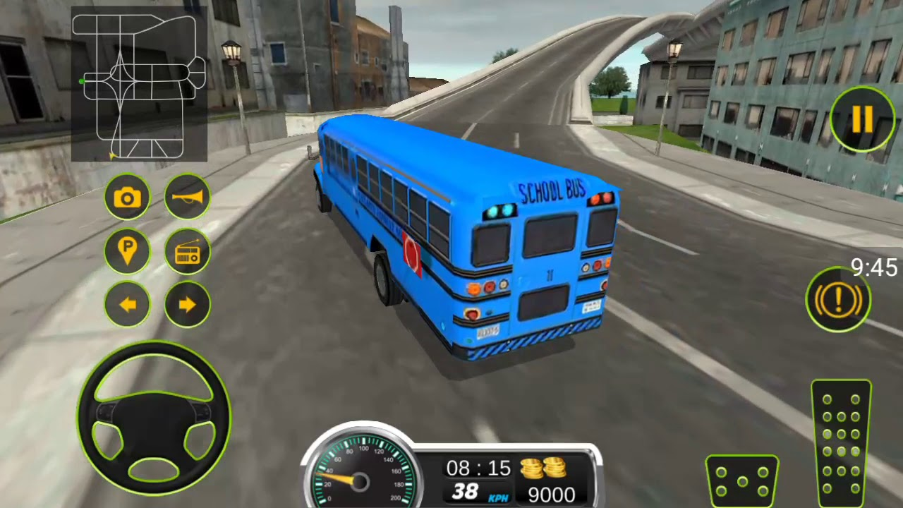 SCHOOL BUS DRIVING 2017- Lái xe buýt trường học – Android game play