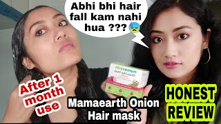 Mamaearth Onion Hair Mask For Hair Fall Control Over Hyped Product Does it actually Work