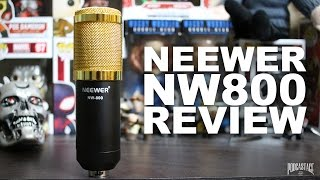 neewer nw 800 condenser microphone review test