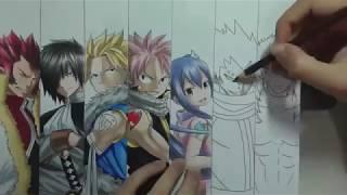 Como desenhar anime manga -  Dragon Slayers (Fairy Tail)