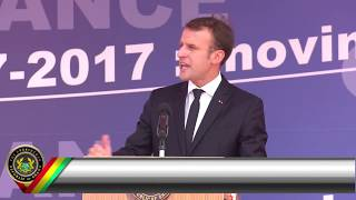 French President Emmanuel Macron Visits Ghana