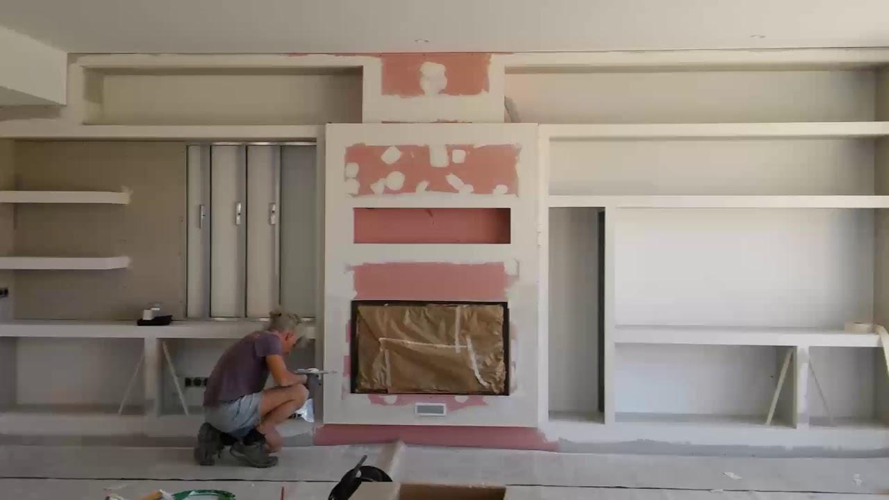 Chimenea con mueble de pladur youtube - Muebles de pladur para salon ...