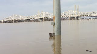 The louisville Kentucky Ohio river flooding of 2018 clips and pics!