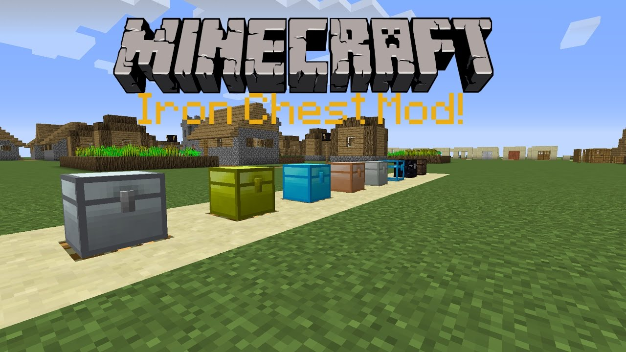 Minecraft 1.11.2 : Iron Chests Mod!   Mod Review - YouTube