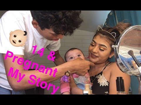 14 & PREGNANT! MY STORY🤰🏽|| Itzali's Makeup