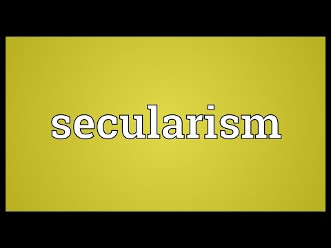 Secularism Meaning