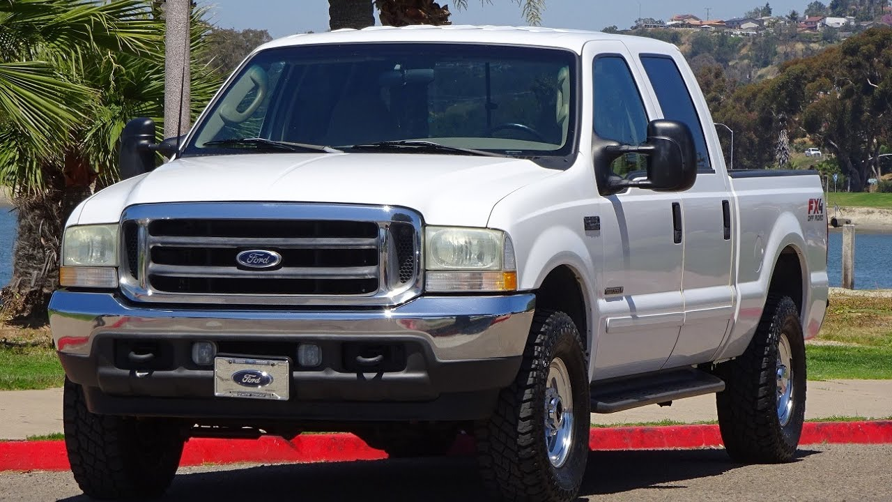 2003 ford f250 xlt crew cab short bed 7 3l diesel 7 3 4x4 4wd 129k miles walk around