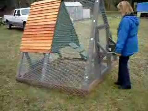 Portable chicken tractor coop or duck pen duckingham for How to build a duck pen house
