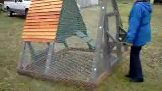 Portable Chicken Tractor Coop Or Duck Pen - Duckingham Palace