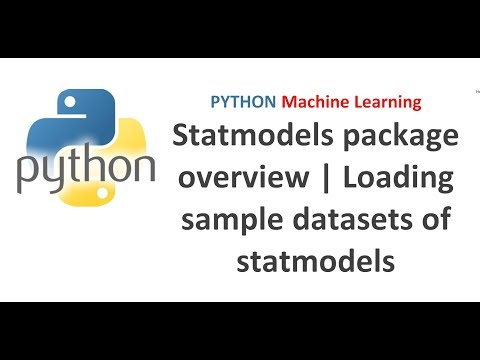 Python Machine Learning   Statmodels package overview   Loading sample datasets of statmodels