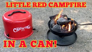Little Red Campfire By Camco Campfire In A Can Youtube