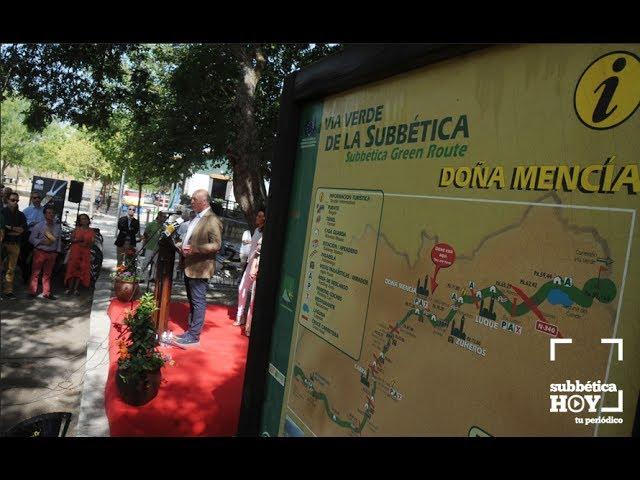 VÍDEO: Presentación de la nueva guía de la Vía Verde del Aceite en Doña Mencía