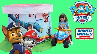 NEW PAW PATROL POWER WHEELS rescue mission | Kids save the day | The Disney Toy Collector