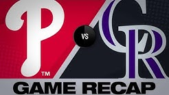 4/20/19: Phillies out-hit Rockies in 8-5 win