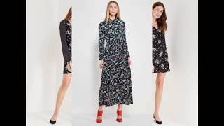 видео Платье с цветочным принтом с чем носить?