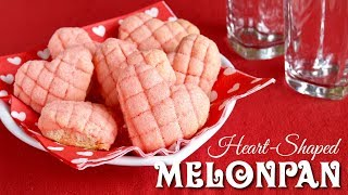 Heart-Shaped Mini Melonpan (Japanese Sweet Buns) Easy Cup Measurement - OCHIKERON - CREATE EAT HAPPY