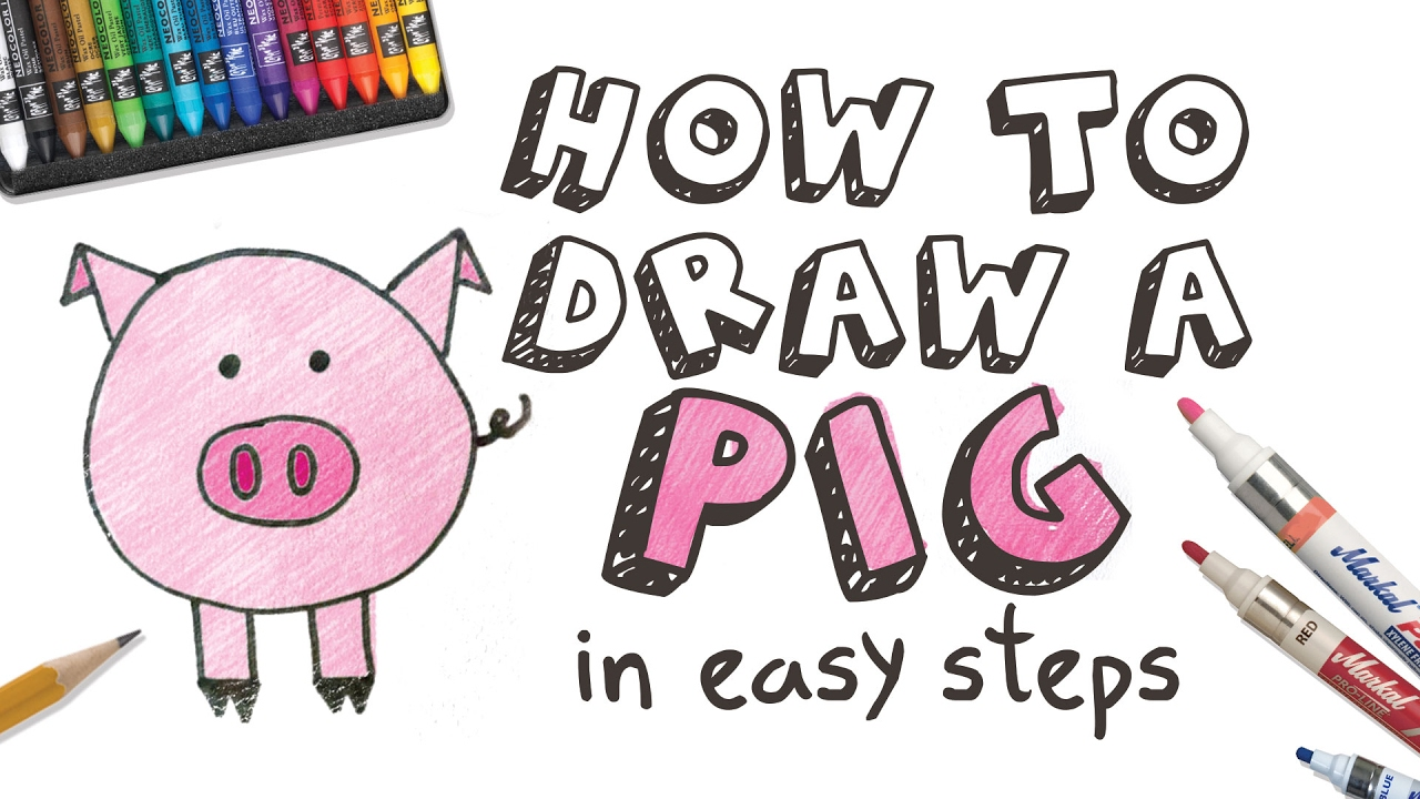 how to draw a pig youtube