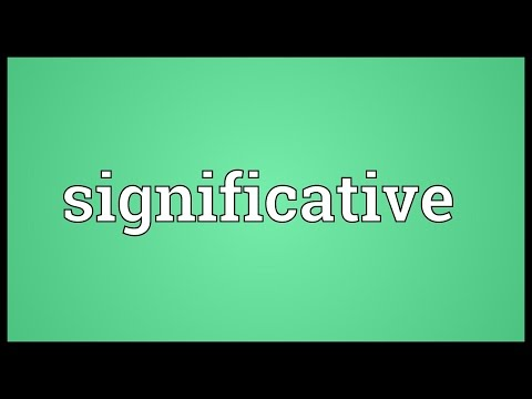Header of significative