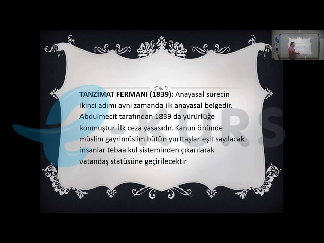 KPSS Vatandaşlık - Senedi İttifak, Islahat Fermanı, Kanuni Esasi / nettekurs.com
