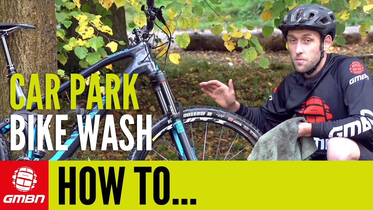 car park bike wash u2013 how to clean your mountain bike after a ride