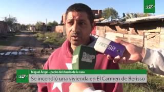 Incendio en una casa de El Carmen