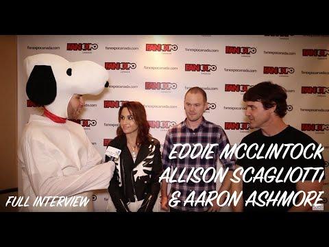 Eddie McClintock, Allison Scagliotti & Aaron Ashmore