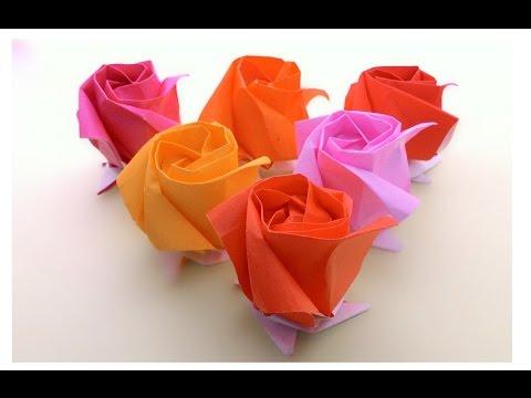 Origami Kawasaki Rose ...พับกุหลาบคาวาซากิ..แสนสวย