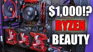 Building a Beautiful Budget RYZEN 5 Gaming PC for $1000
