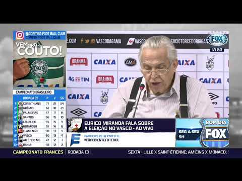Eurico Miranda Fala Sobre Conturbada Eleição Presidencial Do Vasco - Coletiva