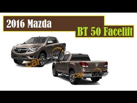 2016 Mazda BT-50 Facelift, revealed in some of patent images