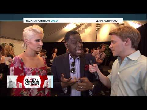 GCF 2014: Backstage Interview with Babatunde Osotimehin & Dianna Agron